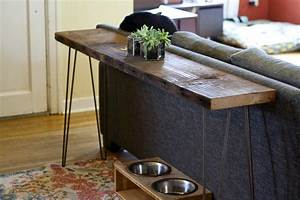 Narrow console table with storage narrow console table for Sectional sofa with table behind