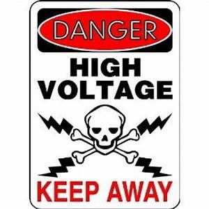 Amazon com: L1453 LARGE DANGER HIGH VOLTAGE KEEP AWAY