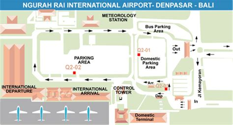 map airport ngurah rai bali