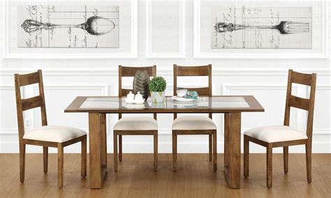 Buy Marlow 6 Seater Dining Table, Glass Top online in