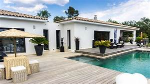 Façade Maison Moderne : constructeur de maisons de plain pied en provence ~ Melissatoandfro.com Idées de Décoration