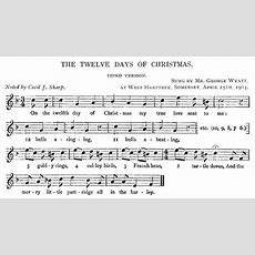 The Twelve Days Of Christmas  Version 3