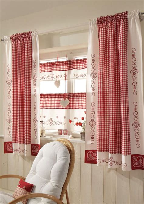 red  white curtains ideas  pinterest red curtains  red  white  red