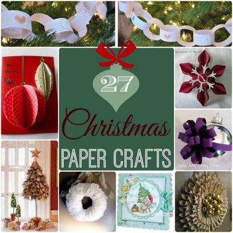 27 christmas paper crafts allfreepapercrafts com