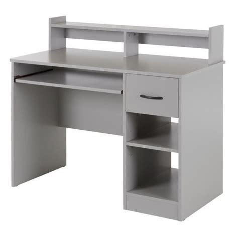 gray computer desk south shore axess computer desk in soft gray 10138