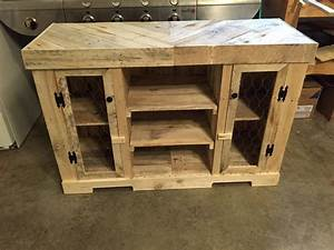Pallet Dog Bowl Stand with Storage Pallet Furniture