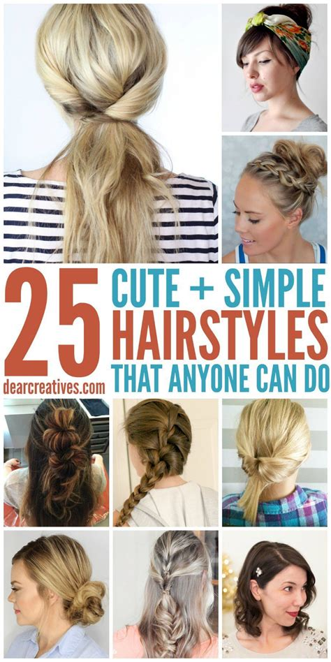 Easy Hairstyles That Can Do by Simple Hairstyles For Hair That Anyone Can Do Hair