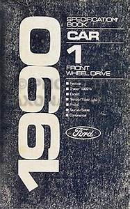 1990 Ford Taurus  U0026 Mercury Sable Repair Shop Manual Original