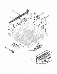 Upper Rack And Track Parts Diagram  U0026 Parts List For Model