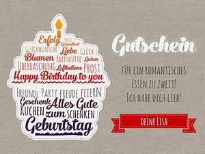 Gutschein Geburtstag Vorlage Geburtstagsgutschein gestalten
