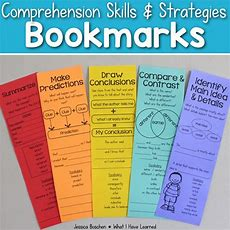 Reading Comprehension Bookmarks • What I Have Learned