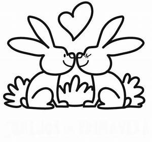 Hasenschablone Zum Ausdrucken : kostenlose malvorlage tiere verliebte hasen zum ausmalen ~ Lizthompson.info Haus und Dekorationen