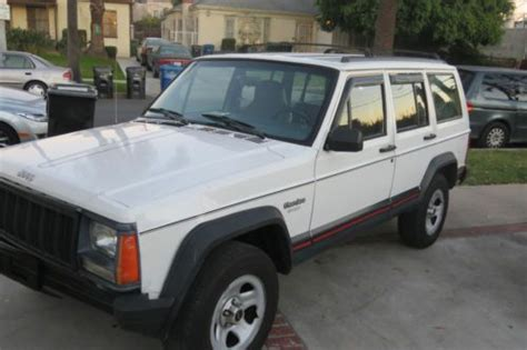 old white jeep cherokee buy used 1 owner no reserve 1996 jeep cherokee sport