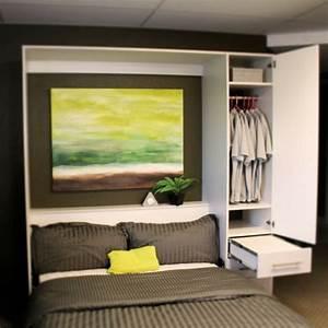 Lit Dans Armoire : l 39 armoire lit escamotable pour plus d 39 espace ~ Premium-room.com Idées de Décoration