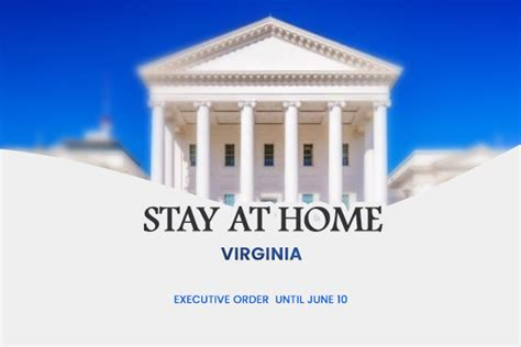 virginia governor issues stay  home order