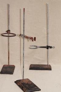 Vintage Lab Beaker Stands Heavy Steel Holder Racks For