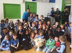 Sam Maguire Comes to Visit Mary Mother of Hope Junior
