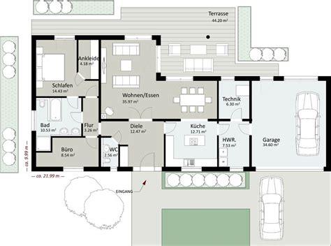 Einfamilienhaus Mit Integrierter Doppelgarage Grundriss by Bungalow Grundriss 120 Qm Grundriss Bungalow Mit