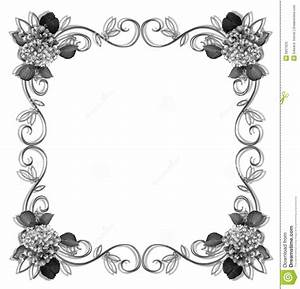 7 Best Images of Printable Flower Border Black And White ...