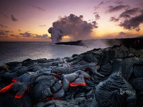 parque nacional dos vulcoes  havai  bing desktop