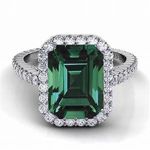 danhov style xe101 em em single shank diamond engagement With emerald diamond wedding rings