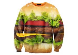 hamburger sweater the green