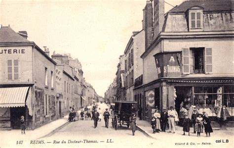 reims rue du docteur reims cartes postales