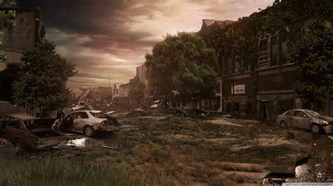 city ruins ultra hd desktop background wallpaper