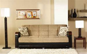 luna fulya brown convertible sofa bed by sunset With luna sofa bed