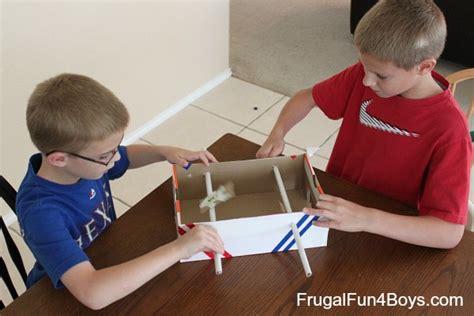 make cardboard foosball table make a shoebox foosball game