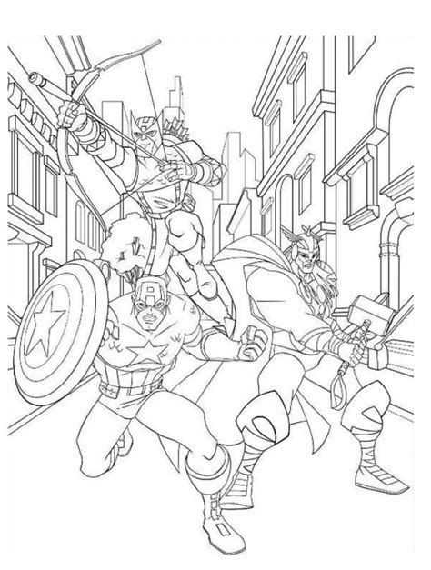 Get This Avengers Coloring Pages Boys Printable 31453