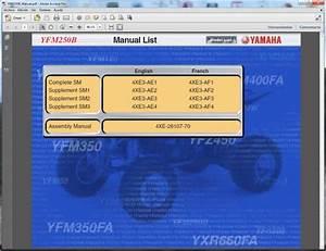 Yamaha Yfm250 - Service Manual