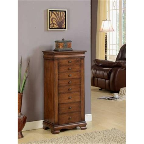 locking jewelry armoire nathan direct j1150arm l br marquis 8 drawer locking