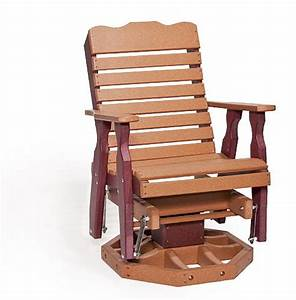 Polywood Porch Glider Chair from DutchCrafters Amish Furniture
