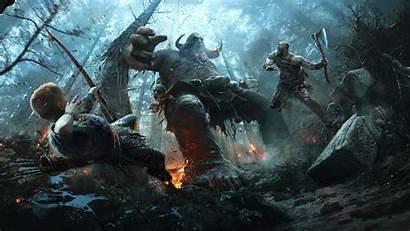 God War Kratos Atreus Monsters Playstation Games