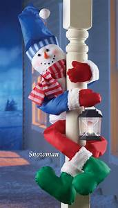 Festive, Holiday, Snowman, Porch, Railing, Or, Tree, Hugger, With, Attached, Battery