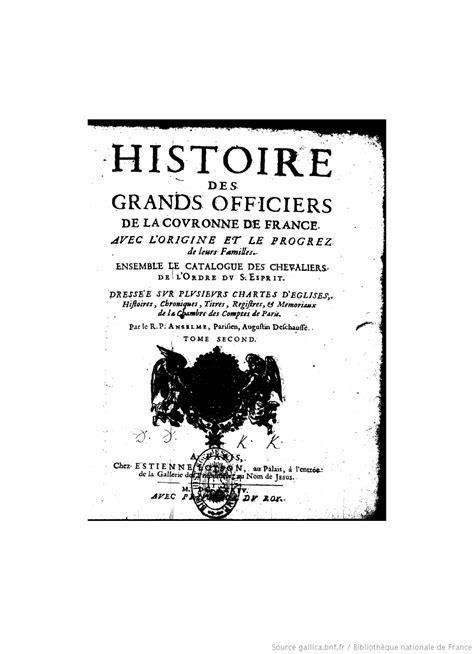 la chambre des officiers histoire des arts histoire de la maison royale de et des grands