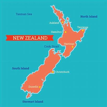 Zealand Map Vector Island Araucaria Clipart Vecteezy