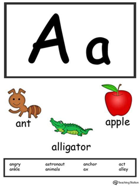 beginning sound of the letter a myteachingstation 465 | Alphabet Flashcards For Preschooler Letter A Color