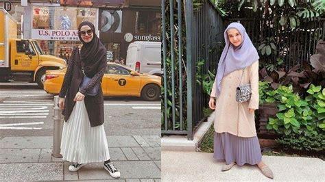 inspirasi ootd hijab traveling ala zaskia sungkar