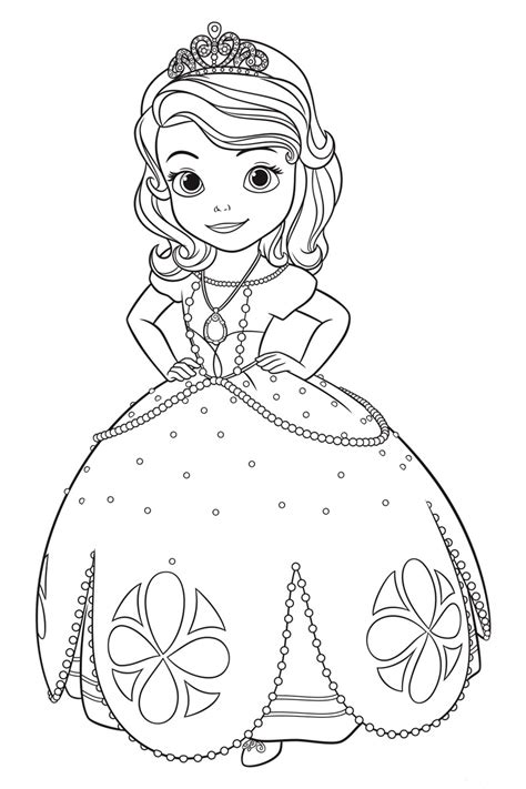 sofia the coloring pages for to print for free