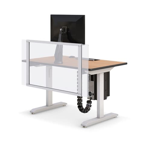 large adjustable height desk height adjustable computer desk with partition