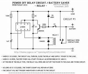 Power Off Delay Circuits - Control Circuit