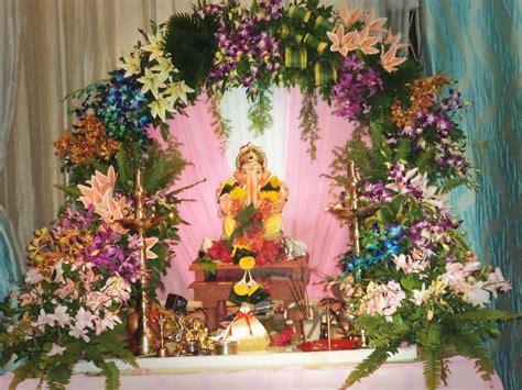 ganpati flower decoration  pune prospect flowers
