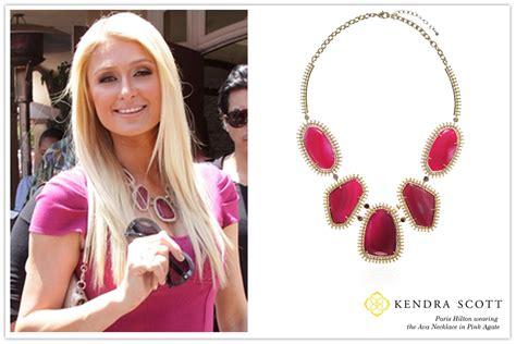Celebrity Paris Hilton wearing Kendra Scott Designer Fashi