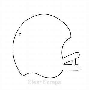 7 best images of football helmet template printable With football cutout template