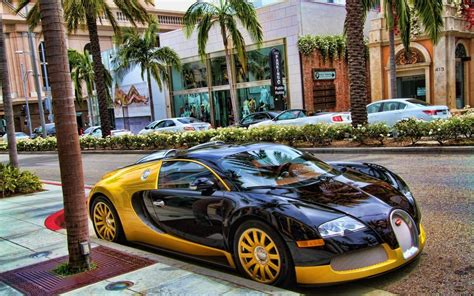 Hd Black And Gold Bugatti Wallpapers Backgrounds