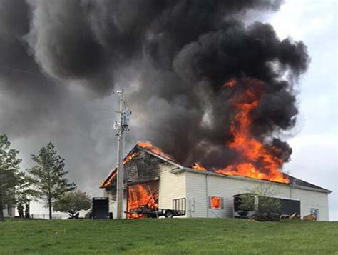 foristell fire destroys barn burns acres west sentinel