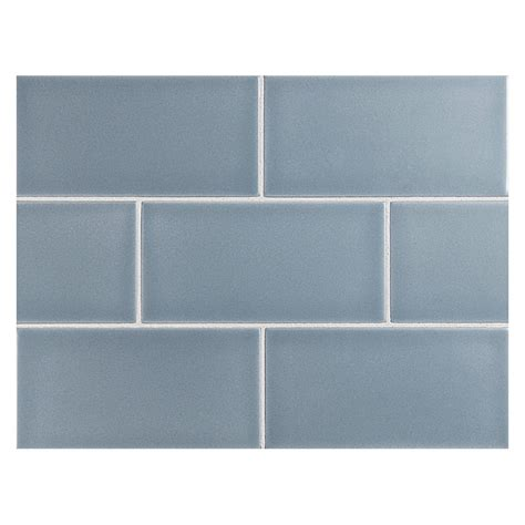 "Vermeere Ceramic Tile  Lt Nautical Blue Matte  3"" X 6"