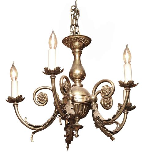 brass five arm classical chandelier olde things